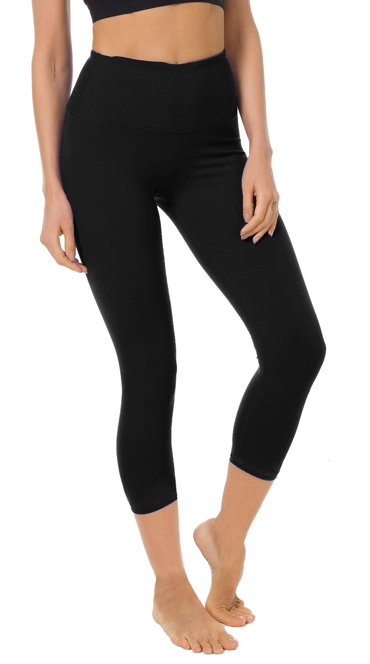 8ec1b3aa338 FIRM ABS Women s Yoga Capris Tummy Control Running Yoga Workout Leggings  Pants Hidden Pocket product image