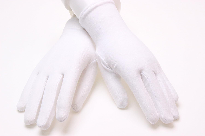 Sin marca 100 pares guantes blancos de Algodón y lycra ligero ...
