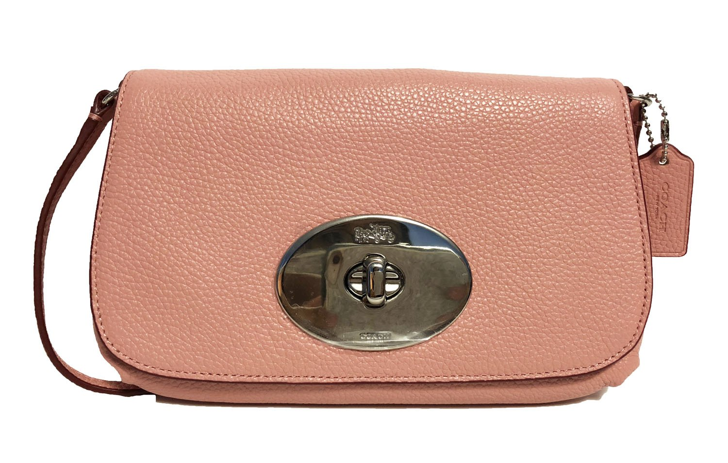COACH Women's Handbag Pebbled Leather Crossbody Purse 52896 (Pink) by Coach