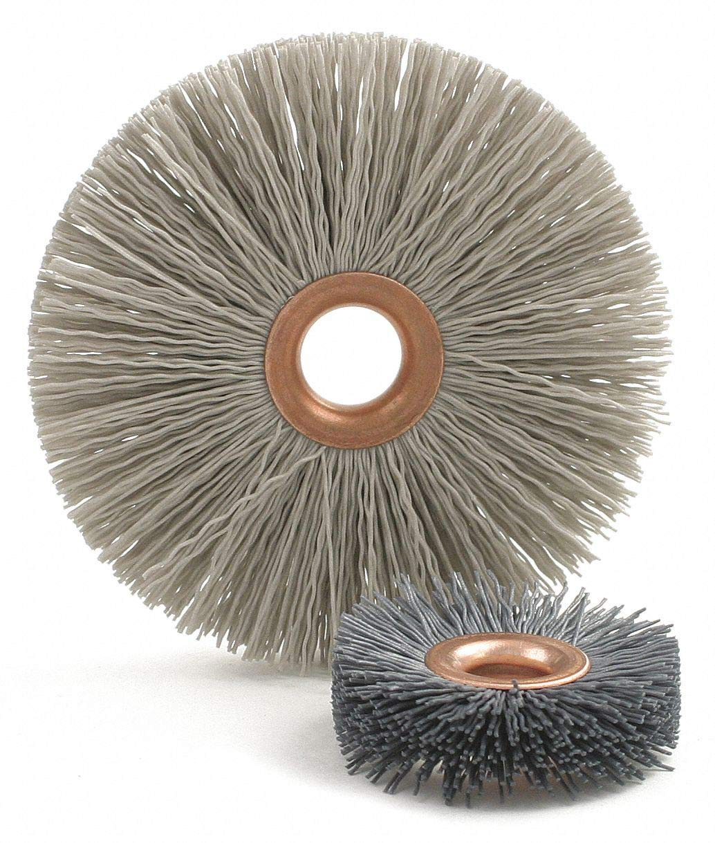 1'' Crimped Wire Wheel Brush, Arbor Hole Mounting, 0.018'' Wire Dia, 1 EA - pack of 5