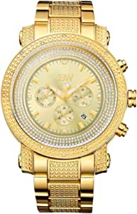 JBW Watch For men With 16 Diamonds, Gold Plated, JB-8102-F