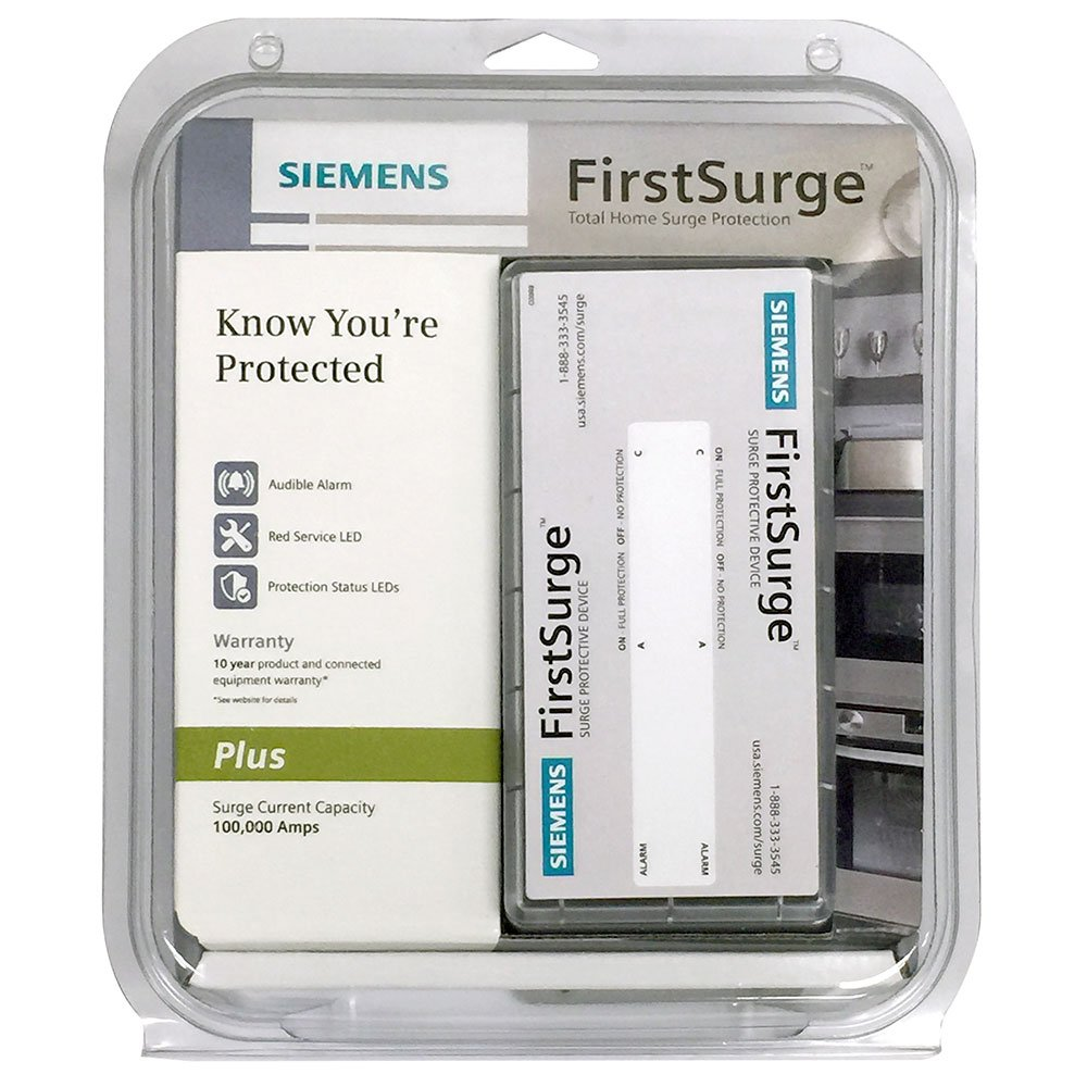 Siemens Fs100 Whole House Surge Protection Device Rated For 100 000 80 Amp Breaker Fuse Box Amps