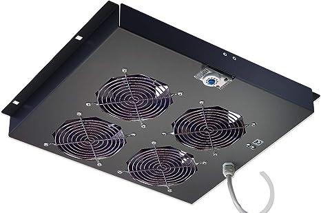 Intellinet 4 Fan Ventilation Unit Ventilador - Accesorio de Rack (Ventilador, Negro, Acero, 48,3 cm (19