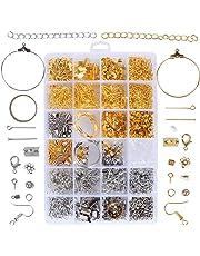 10c5ec841b4f ❤1745pcs Kit Accesorios Joyería Artesanía Fabricación Joyas Material Pendientes  Collar Pulsera Color Oro Plata