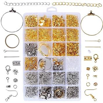 Bijoux Accessoires De Boucle Pour Manuelle Débutants Collier 1745pcs Fabrication Bracelet D'oreille Diy Création Rj5A4L