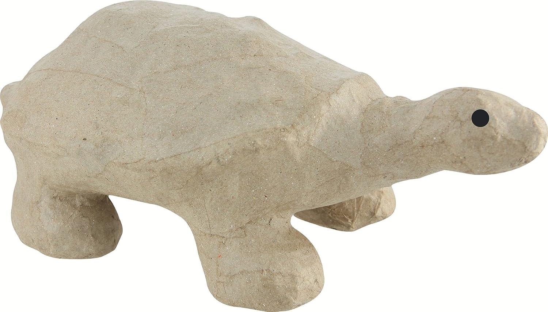 16 x 9.5 x 10 cm Brown d茅copatch Mache Turtle