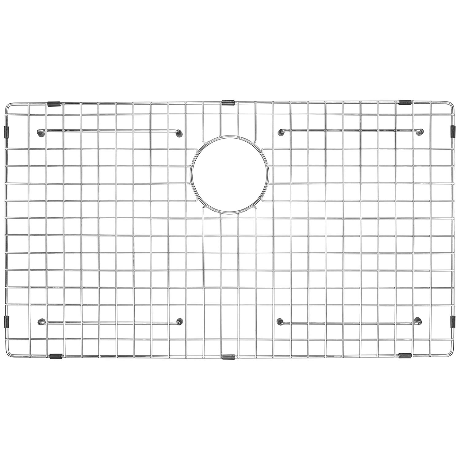 Serene Valley Sink Protector and Kitchen Sink Bottom Grid NDG3321, 304 Premium Stainless Steel, dim 29 11/16'' x 15 11/16''