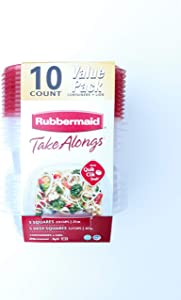 Rubbermaid Take Alongs 10 Piece Value Pack Containers + Lids