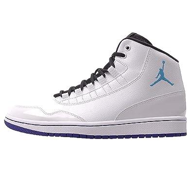 new styles 1d501 2ee17 Nike Jordan Executive Mens Basketball Shoe White Blue Lagoon Concord Black  (10.5)
