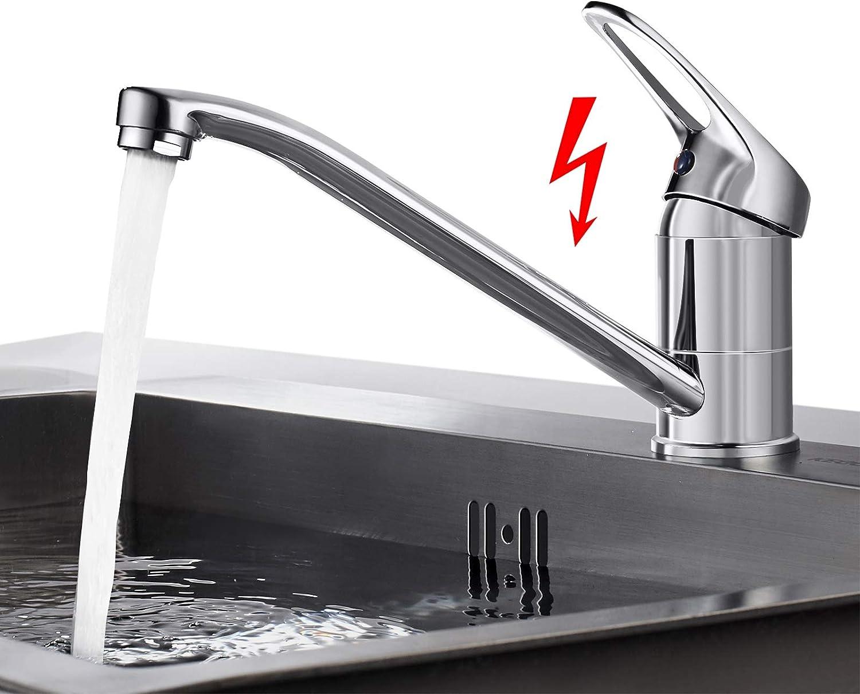 BONADE K/üchenarmatur Hochdruck Wasserhahn 360/° Schwenkbare Sp/ültischarmatur K/üche Armatur Chrom Mischbatterie Einhandmischer Einhebel K/üchenmischer