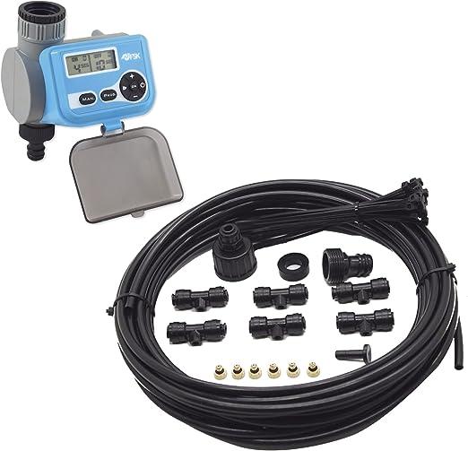 Ferrestock Kit Completo para Sistema de nebulización de 15 m, Negro, FSKNEB002KIT: Amazon.es: Jardín