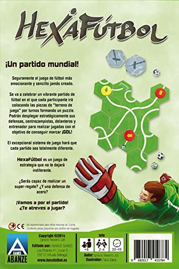 Abanze Games - Hexafutbol. Juego de fútbol y estrategia para 2-4 participantes. Juego de mesa.: Amazon.es: Juguetes y juegos