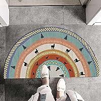 Bohemian Mat Geometric Semi-Circular Doormat Anti-Slip Washable Carpets for Bedroom Bathroom Kitchen Door Rug Printed…