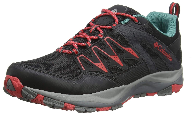 Schwarz(schwarz, rot Coral) Columbia Damen WAYFINDER MID Outdry Trekking-& Wanderhalbschuhe, schwarz rot Coral