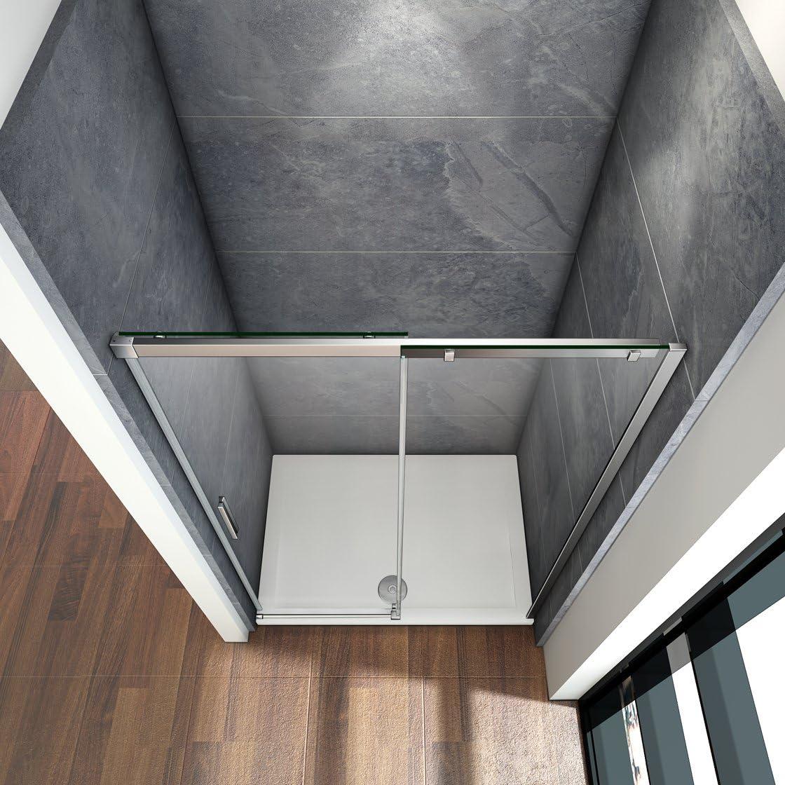 125x195cm Mamparas de ducha puerta de ducha 8mm vidrio templado de ...