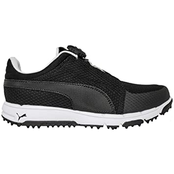 7101ead52f976 Puma Golf Grip Sport Junior Disc Golf Shoes Kids Trainers Black ...