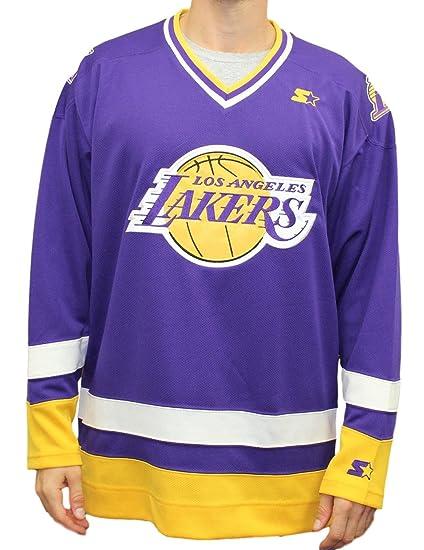 9660c5b52 Amazon.com   STARTER Los Angeles Lakers NBA Men s Legend Hockey ...