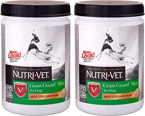 Nutri-Vet Grass Guard Max Dog Chewables, 365 Chewables - Pack of 2