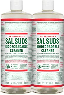 product image for Dr. Bronner's - Sal Suds Biodegradable Cleaner (32 Ounce, 2-Pack) - All-Purpose Cleaner, Pine Cleaner for Floors, Laundry and Dishes, Concentrated, Cuts Grease and Dirt, Powerful Cleaner, Gentle