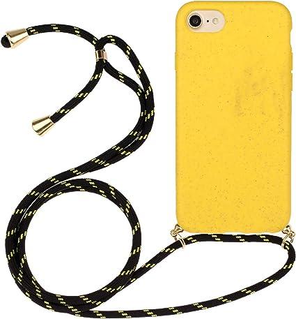 CUAgain Cover Compatibile per iPhone 8/iPhone 7/iPhone SE 2020 Silicone Cordino Matte Antiurto Case Ultrasottile Tinta Unita Colorate Resistente ...