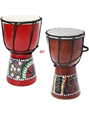 Redriver African Djembe drum, Wood Bongo with Good Sound(4 inch)