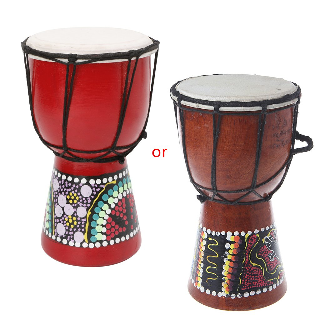 Redriver African Djembe drum, Wood Bongo with Good Sound(4 inch) by Redriver