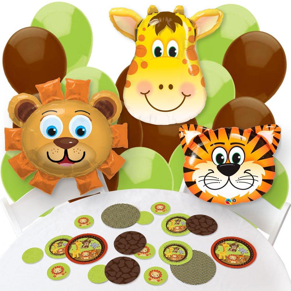 Funfari - Fun Safari Jungle - Confetti and Balloon Baby Shower or Birthday Party Decorations - Combo Kit
