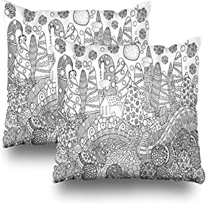 Cushion Cover Libro para Colorear con Árboles De Navidad