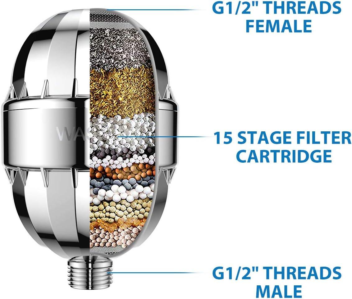 WASSA High-Pressure Shower Head Filter inside