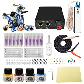Wormhole Tattoo Komplettes Tattoo Maschine Set Für Anfänger Tattoo Netzteil Kit 4 Tattoo Farben 10 Tattoo Nadeln 1 Pro Tattoo Kit Tattoo Zubehör Eu Stecker Tk1000016 Amazon De Beauty