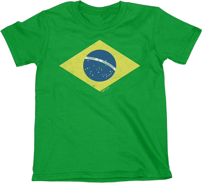 buzz shirts NIÑOS O NIÑAS Camiseta Brazil Diamond Flag Copa Mundial 2018 FÚTBOL Kids Brasil Retro: Amazon.es: Ropa y accesorios