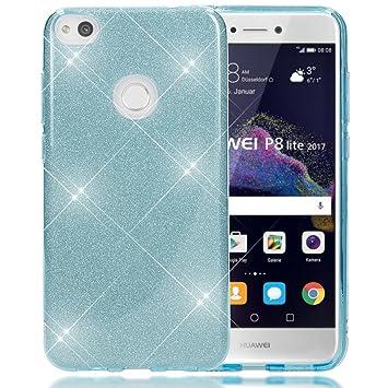 NALIA Purpurina Funda Compatible con Huawei P8 Lite 2017, Carcasa Protectora Movil Silicona Ultra-Fina Glitter Bumper Estuche, Lentejuela Cubierta ...