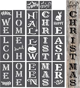 OCCdesign Welcome | Home Sweet Home | Christmas | Halloween | Easter Sign Stencils Templates KIt Decor for Porch Front Door of Home or Hotle Store