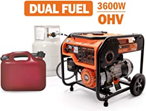 Etq TG32P31/TG32P31DF Tough Quality 3600-Watt Gas Powered Generator, Extremely Quiet- CARB Compliant (TG32P31DF)