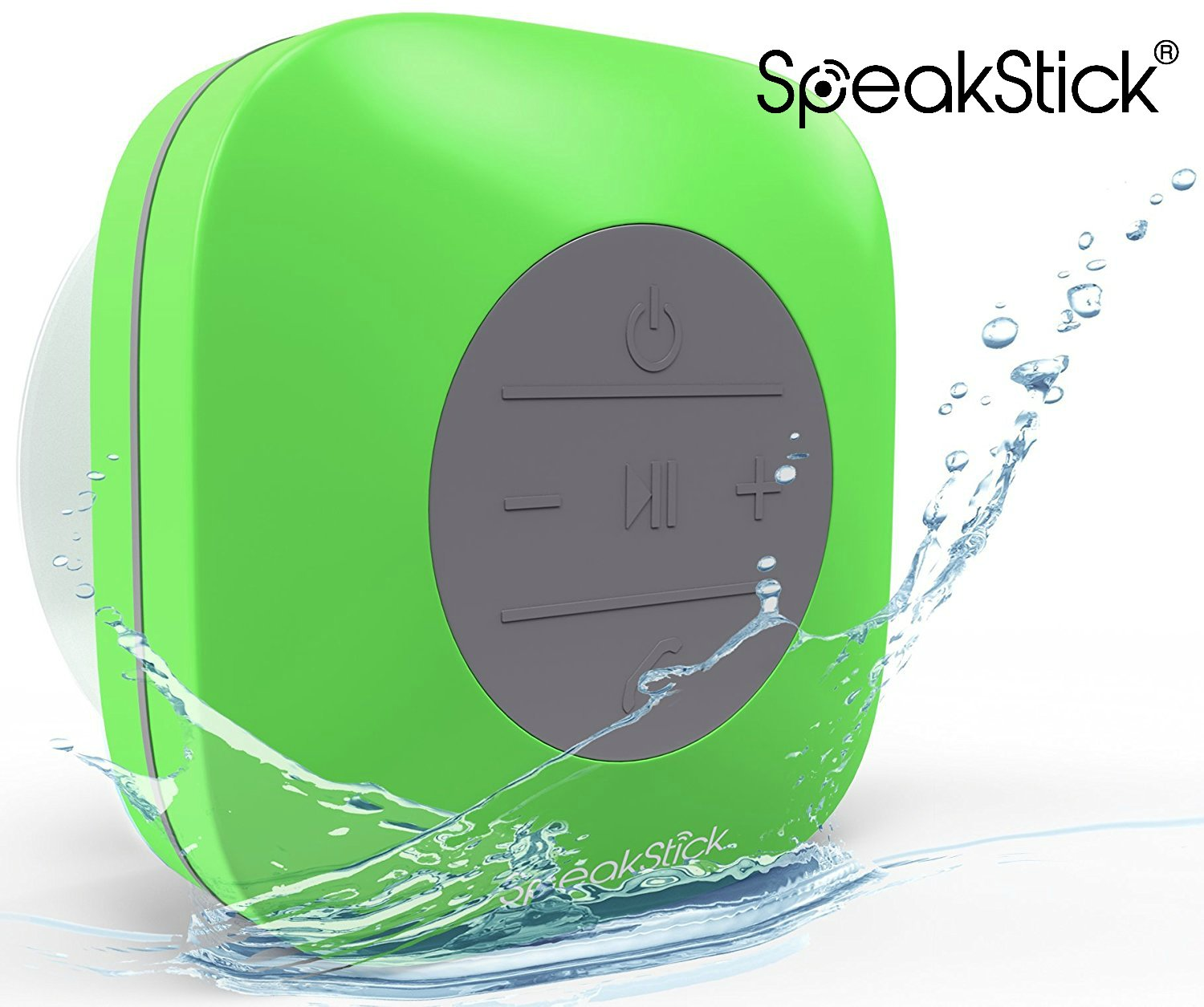 SpeakStick Classic Waterproof Bluetooth Shower Speaker With 2016 Design - White