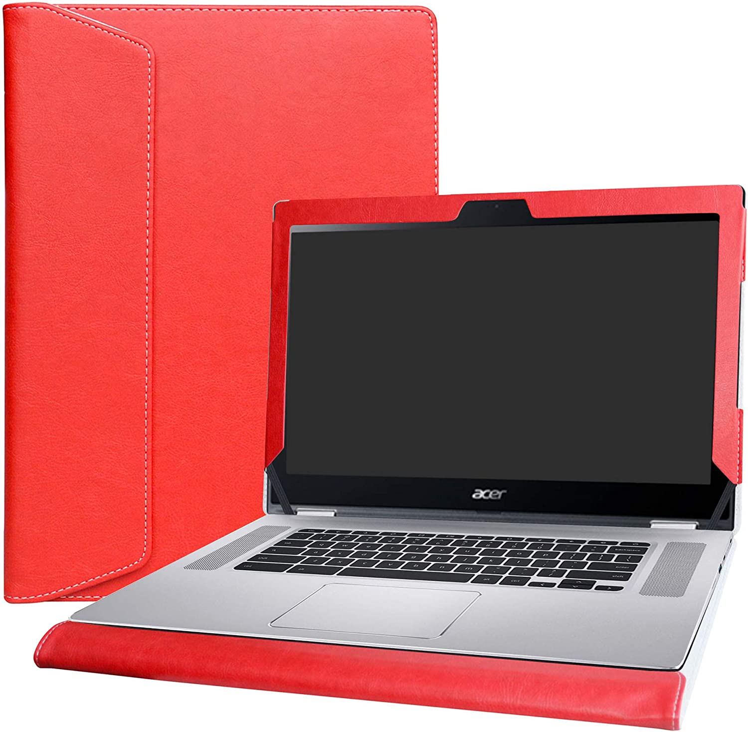 "Alapmk Protective Case Cover for 15.6"" ACER CHROMEBOOK Spin 15 CP315-1H Series Laptop(Warning:Not fit Acer Chromebook 15 CB315-1HT & C910 CB5-571 CB3-532 CB3-531 CB515 Series),Red"