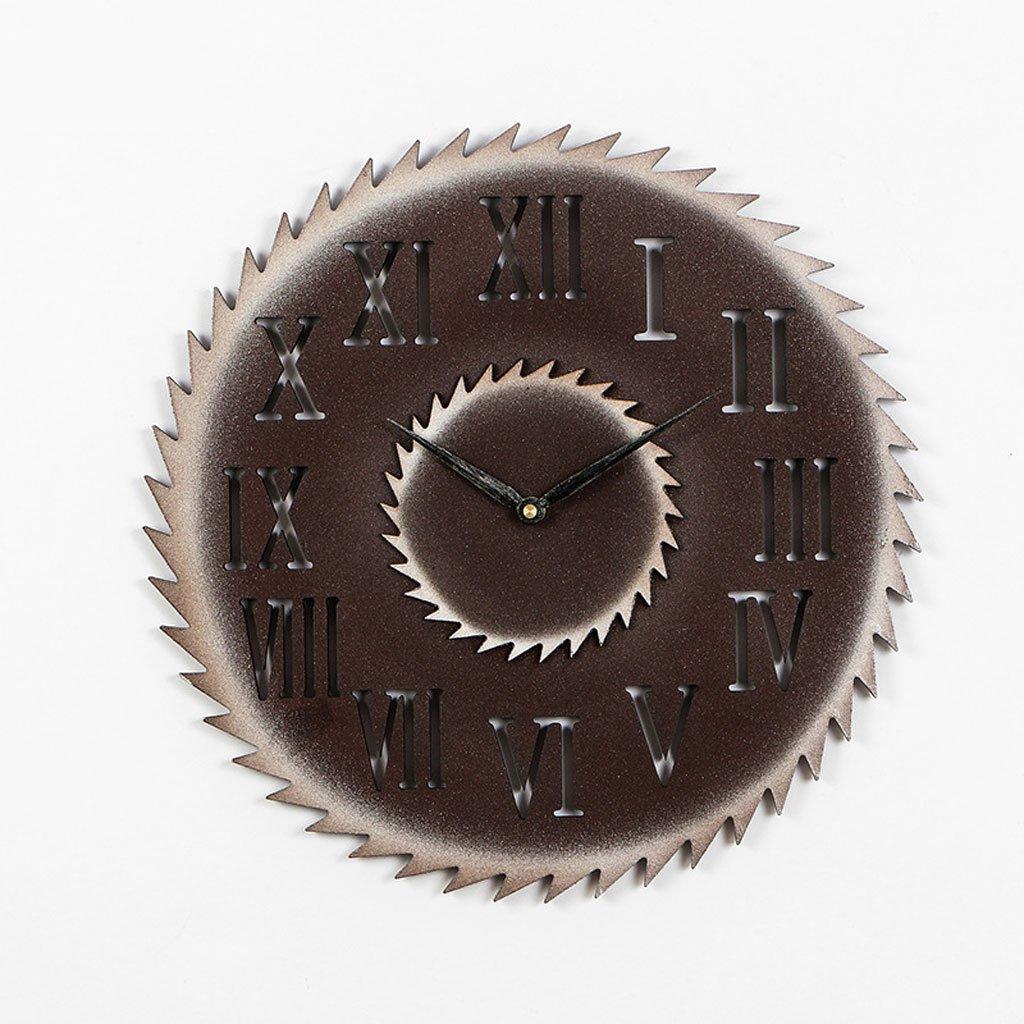 ローマの単語レトロな壁時計産業クリエイティブウォール立体的な装飾時計の模造金属のギア (Color : A) B07CSPJ7N3 A A