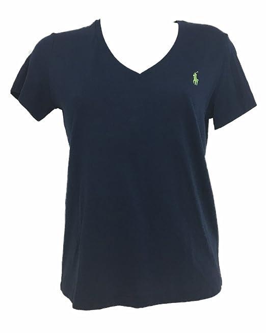 new style 13e08 0f101 Ralph Lauren Donna T-Shirt Manica Corta Collo V