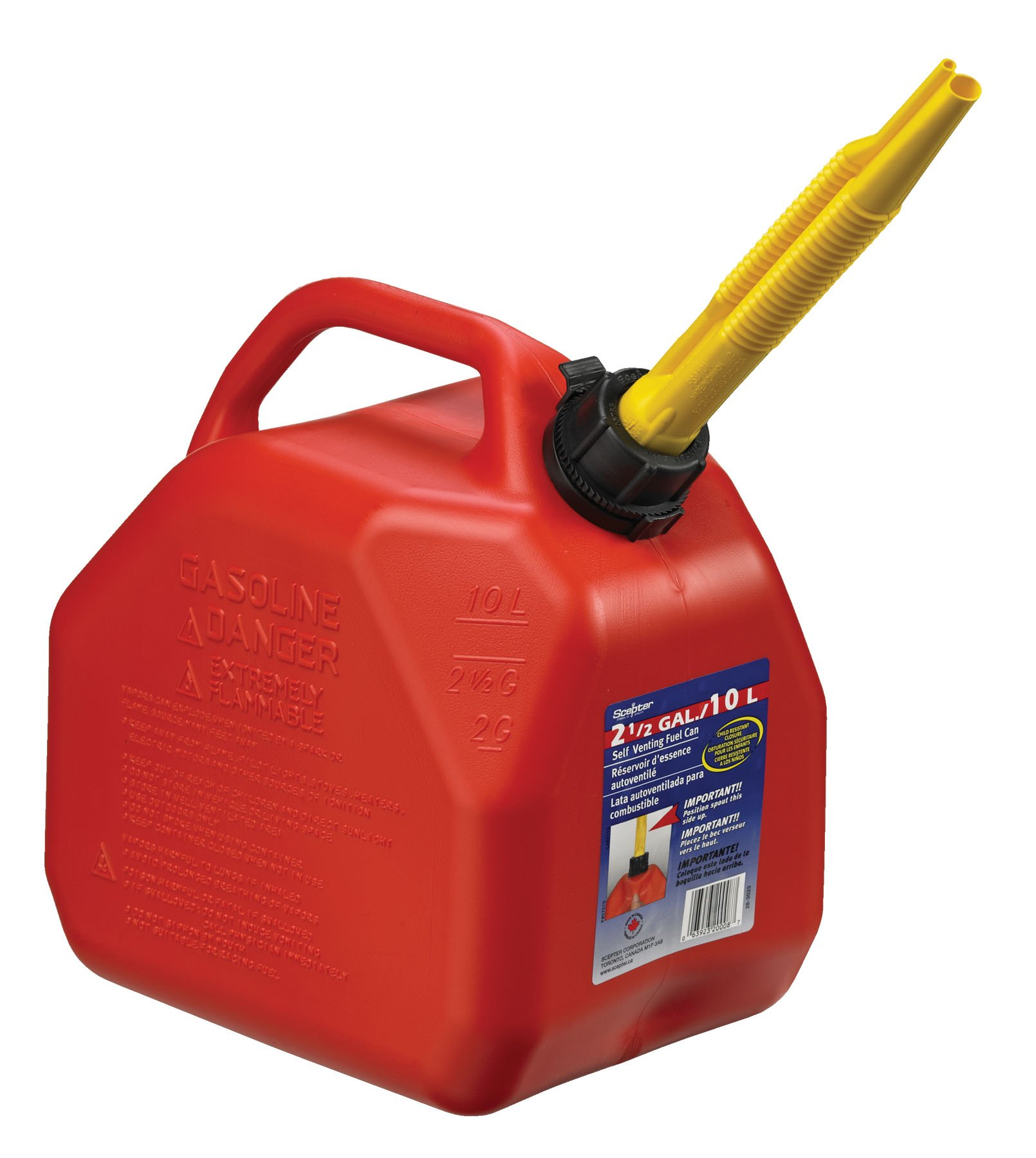 Moeller Scepter Vented Gas Can with Child Resistant Closures (2.5-Gallon)