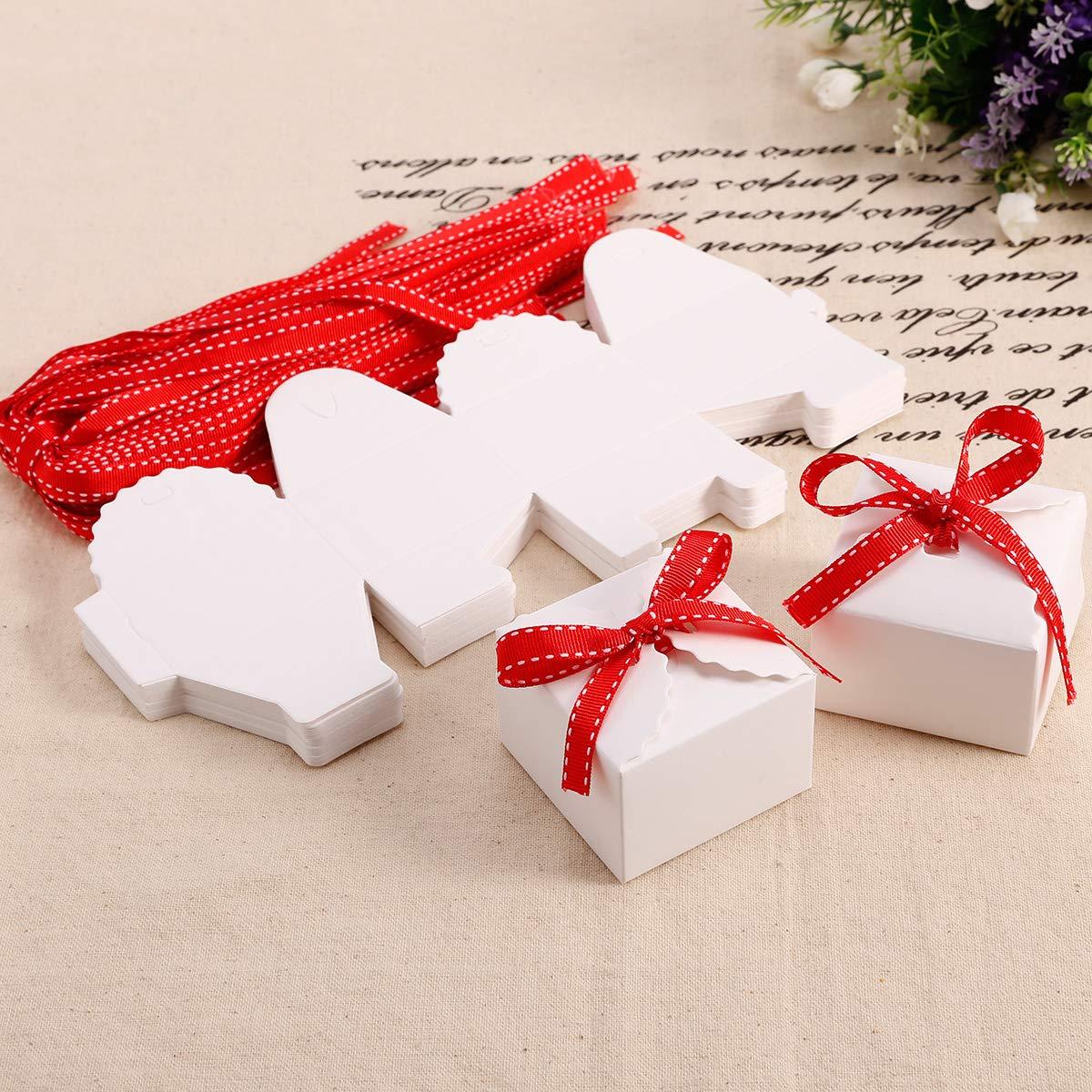 Bastelmaterialien Geschenkbeutel Gastgeschenk Tischdeko Geburt Rosa Weiß 6 St Schnelle Farbe Gedeckter Tisch