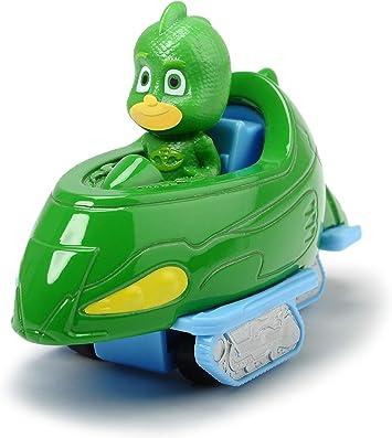 Dickie Toys PJ Masks Gekko Mobile - Vehículo Gecko de Metal, Rueda Libre, 7 cm, a Partir de 3 años