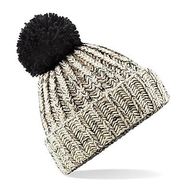 Beechfield - Bonnet tricoté avec pompon - Adulte unisexe (Taille unique)  (Avoine) b540abea426