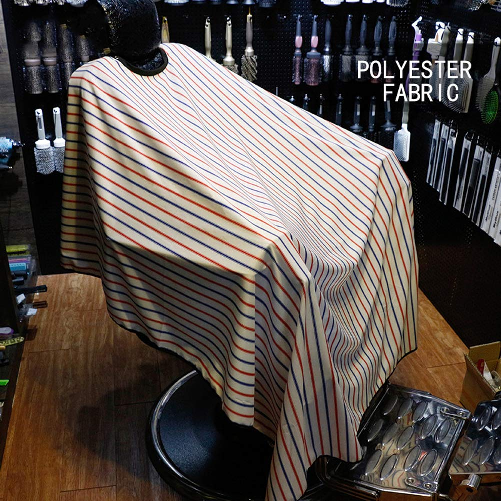 DANTB Professional High Grade Salon Client Hair Cutting Cape Gown, Barber Haircut Cape with Sleeves - Stripe