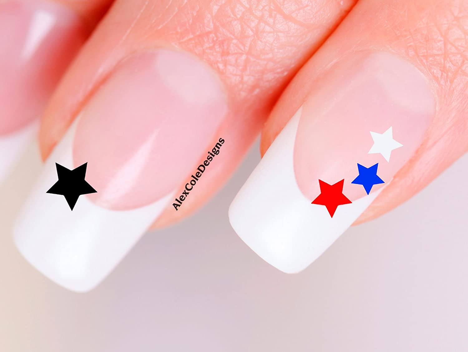Amazon.com: Star Nail Stickers (Red, White, Blue): Beauty