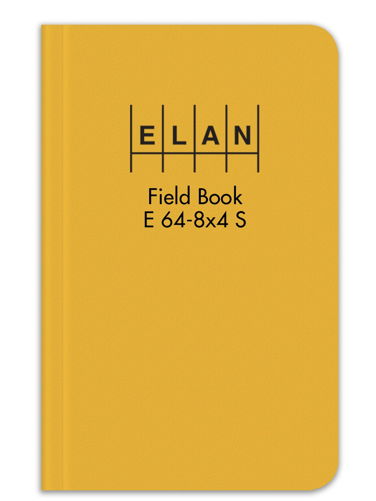 Elan Publishing Company E64-8x4S Sewn Field Surveying Book 4 ⅞ x 7 ¼ Yellow Stiff Cover (Pack of 12)