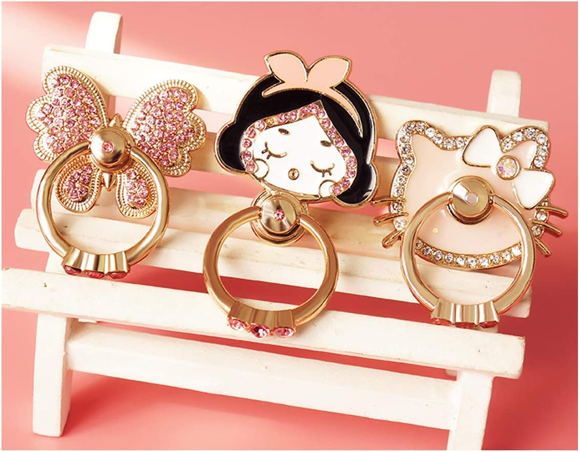 Thin Universal Phone Cute Cat Ring Holder Compatible Smartphones Alzcatek Finger Ring Stand 360 Degree Rotation