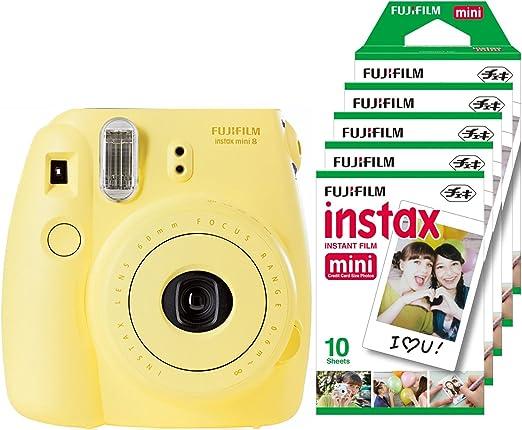 Fujifilm Instax Mini 8 - Cámara instantánea (flash, 1/60 sec ...