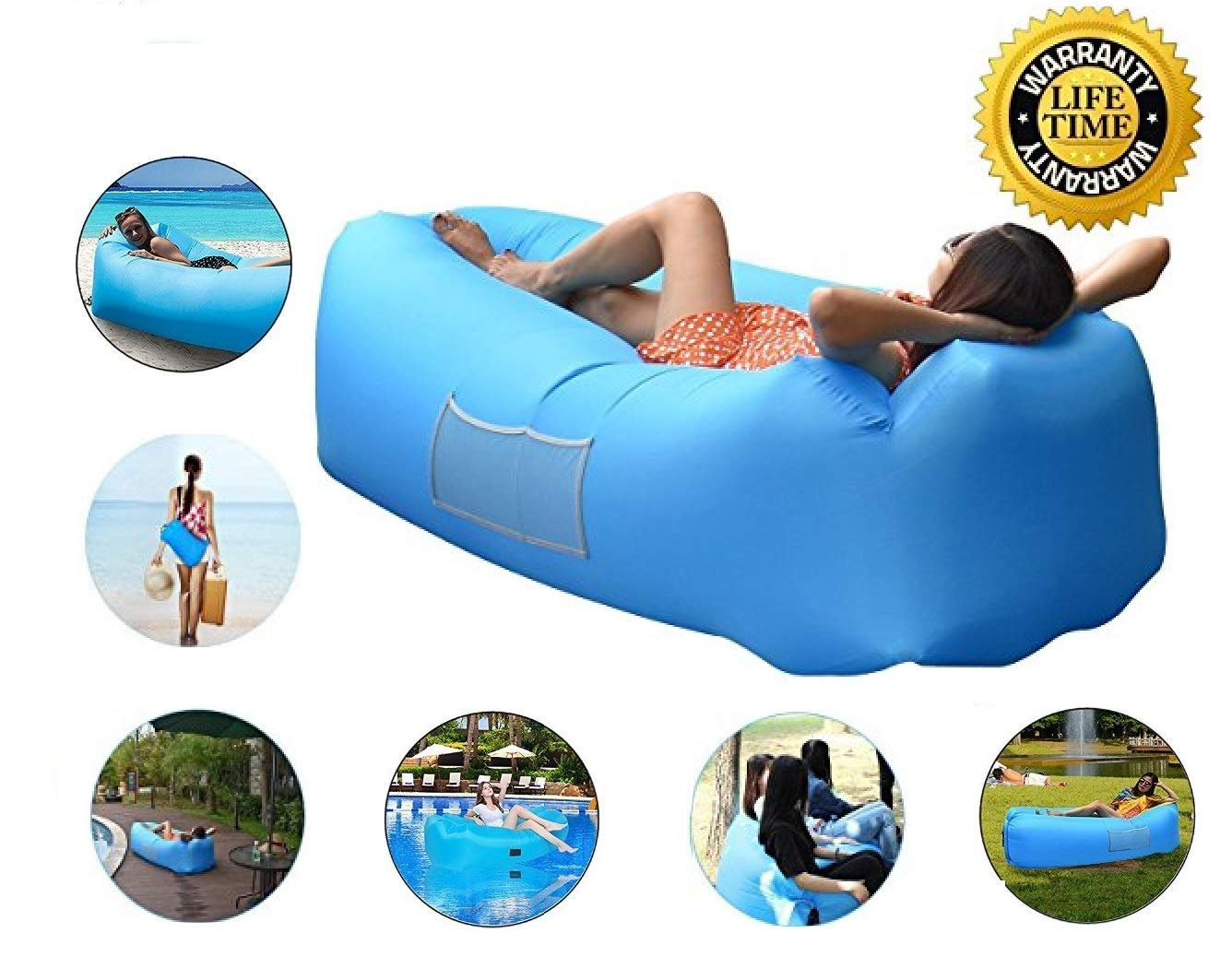 Amazon.com: Freesun tumbona inflable | Hamaca interior para ...