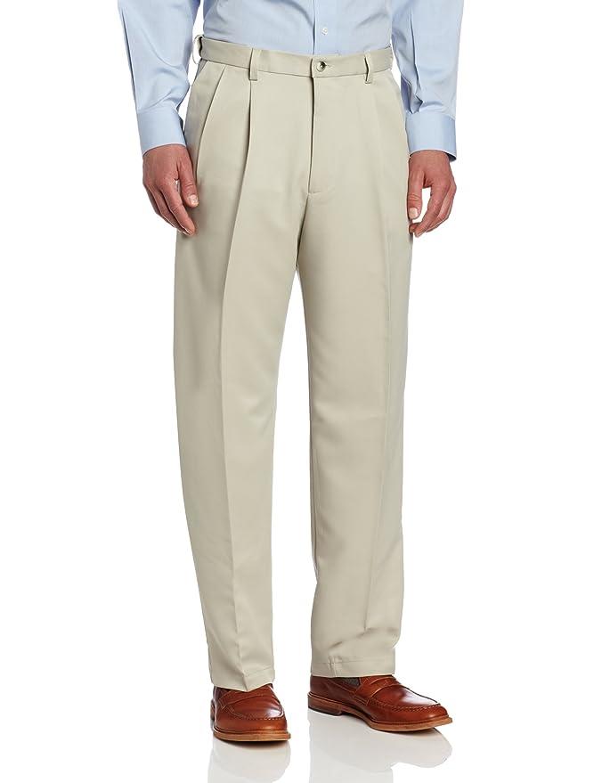 Haggar Men's Cool 18 Hidden Expandable-Waist Pleat-Front Pant at ...