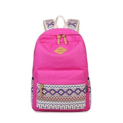 b5969529561e Image Unavailable. Image not available for. Color  Canvas Printing Women  Backpack Vintage School Student Laptop Rucksack Female Bagpack Book Bag ...
